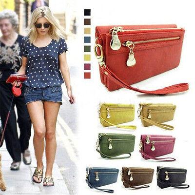 Women Wallet Wristlet Lady Card Coin Holder Long Wallet Clutch Zipper Purse Bag