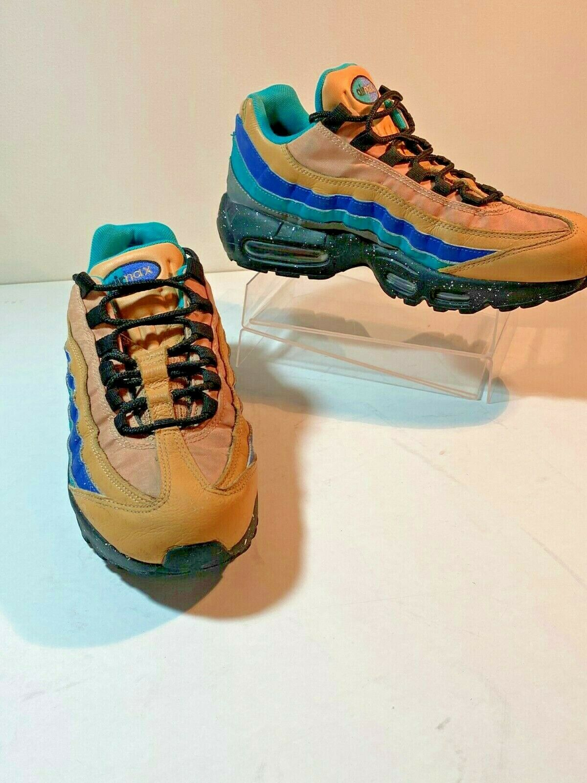 Nike Air Max 95 Men S Shoes Size 8 Praline Turbo Green Grey Mega