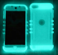 For iPod Touch 5th 6th Gen Shock Proof Hard Soft Cover Case Clear Glow in Dark