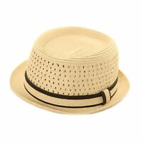 NEW MENS WOMENS LADIES STRAW STYLE PORK PIE TRILBY SUMMER SUN FESTIVAL HAT
