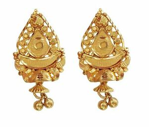 Image Is Loading Indian Handmade Solid 22k 22 Carat Yellow Gold
