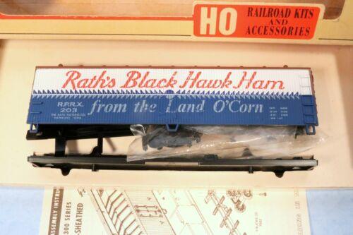 Train-Miniature HO Rath/'s Black Hawk Ham 40/' Double-Sheathed Reefer Kit
