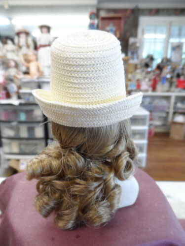 """UNIQUE ROUND hat for 12/"""" French Fashion derorate embellished HEAD 5 3//4/"""" PICK"""