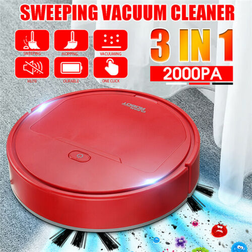 3in1 Rechargable Smart Robot Automatic Vacuum Cleaner Sweeper 2000PA Suction T