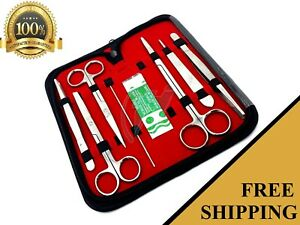 8-teilig-Edelstahl-Minor-Micro-Surgery-Set-Chirurgische-Instrumente-Zange