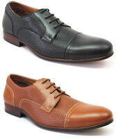 Men's Ferro Aldo Dress Shoes Cap Toe Herringbone Lace Up Oxfords Modern