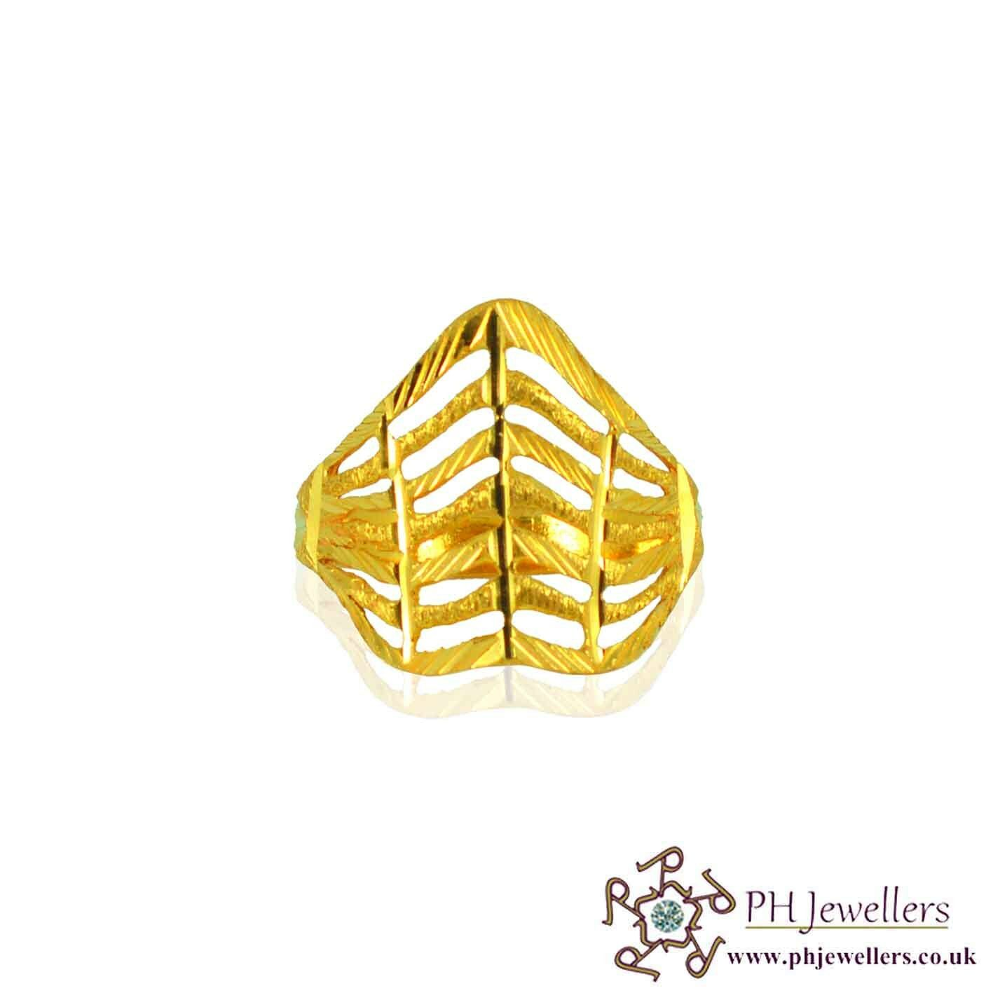 22ct 916 Hallmark Yellow gold Size O1 2,P,Q Ring FR5