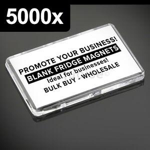 5000-x-maxima-calidad-acrilico-transparente-en-blanco-Imanes-de-NEVERA-70-x-45mm