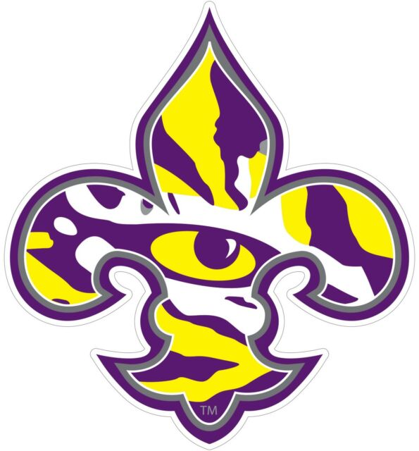 Geaux LSU Tiger Louisiana State University Vinyl Decal Free Ship 924