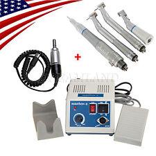 Dental Lab Marathon Electric Micro Motor + 2 High &1 Slow Speed Handpiece U1UH