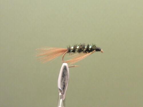 truite fly pêche à la mouche mélangé 10//12//14 8 Pearl Diawl Bach nymphe mouches de pêche