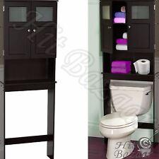 Bath Storage Cabinet Over The Toilet Space Saver Caddy Bathroom Organizer Wood