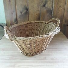 Vintage Small Wicker Farm Basket Child Laundry Basket From Old-Time Farm Auction