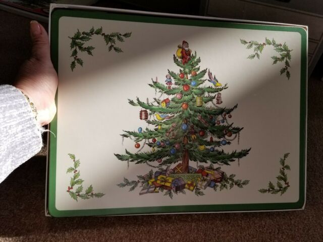 SPODE Christmas Tree Placemats 16