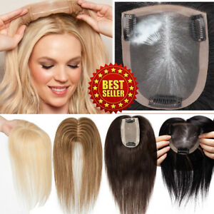 Cover-Top-Clip-In-Human-Hair-100-Topper-Toupee-Silk-Mono-6-034-18-034-New-Arrival-US