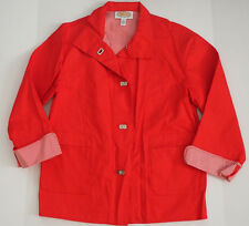 Womens TALBOTS Red Cotton Jacket - Small