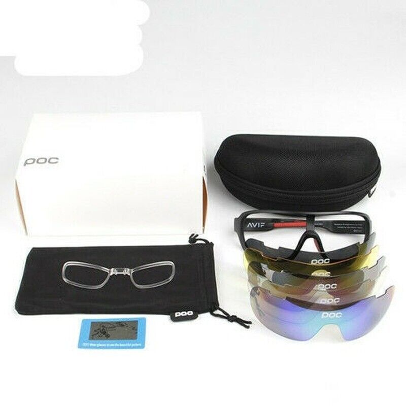 UV400 Sunglasses W// 5pc Polarized Lens Glasses Replace Glasses POC Cycling Biker