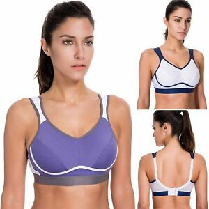 Womens Bounce Control Plus Size Run Sports Bra Padded Seamless High Impact Support For Yoga Gym Workout