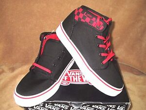 ad29249267e6 Image is loading NEW-VANS-106-MID-SKATE-SHOE-CHECKERBOARD-BLACK-