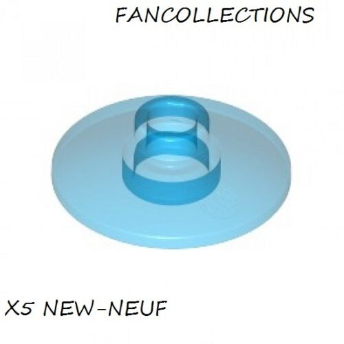 LEGO x 5 Trans-Light Blue Dish 2x2 Inverted 4740  NEUF