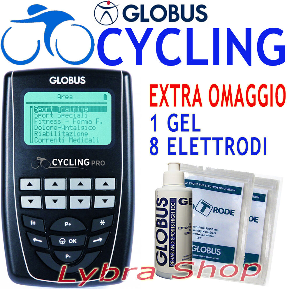 GLOBUS CYCLING PRO Ciclismo Strada, Mountain Bike elettrostimolatore 270 prg