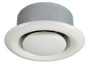 EFFC Air Valve Extract Ceiling or Wall Mounted in White with Mounting Ring
