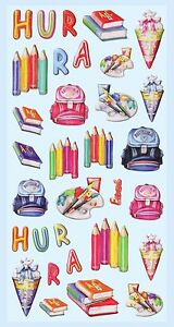 Details Zu Sticker Hurra Schulanfang Schulbeginn Einschulung Schultüte Einladung Basteln