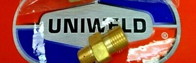 "UNIWELD Male threads 9//16/"" x 1//8/"" N.P.T LHT B Fuel Gas WELDING Hose Adapter"