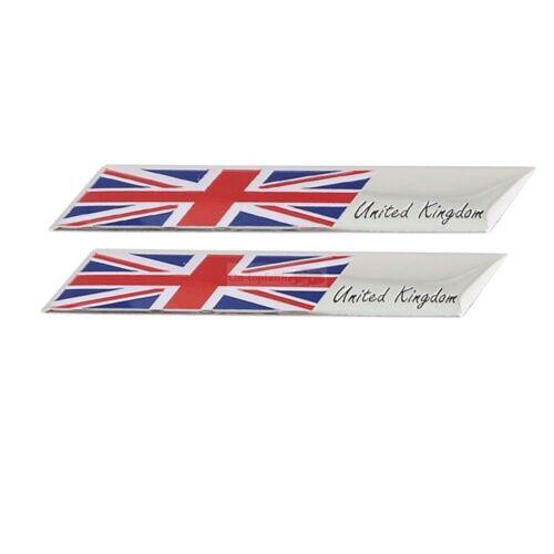 2x Unite Kingdom England Britain Metal Car Fender Emblem Badge Sticker For Mini