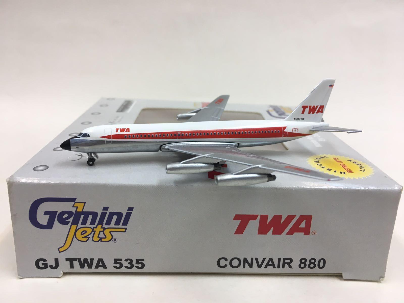 GEMINI JETS TWA CONVAIR 880 1 400  gjtwa 535 N802TW  les promotions