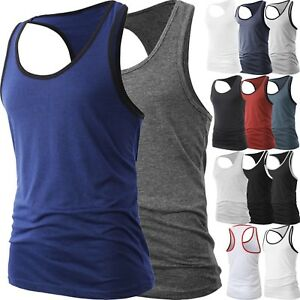 Men-Muscle-Tank-Top-T-Shirt-Ribbed-Fashion-Sleeveless-Gym-Tee-Casual-A-Shirt