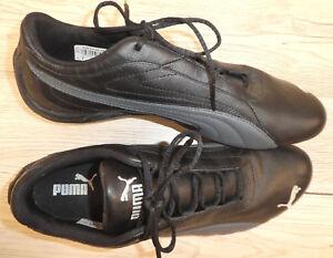 Details zu NEU !! PUMA ! Damen Leder Mix Turnschuh Laufschuh Gr. 40,5 UK 7 schwarz + grau