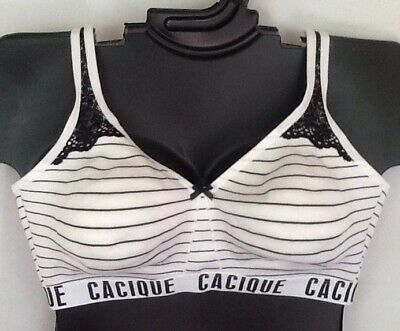 NWT LANE BRYANT SPORT BY CACIQUE FRONT CLOSE NO WIRE SPORTS BRA SZ 42DD