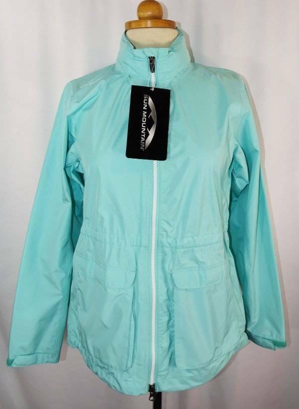 New Women's Sun Mountain Aruba Hooded Cumulus Wind/Waterproof LS Jacket S NWT