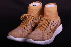 sports shoes c240b 55350 Image is loading NikeLab-Lunarepic-Flyknit-Golden-Beige-Black-831111-200-