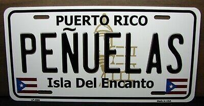 PUERTO RICO NAGUABO ISLA DEL ENCANTO METAL NOVELTY LICENSE PLATE FOR CARS