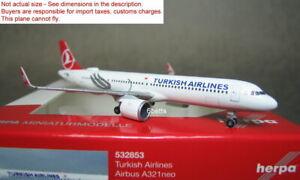 Herpa 1/500 Turkish A321 neo TC-LSA #532853 Diecast metal model plane @
