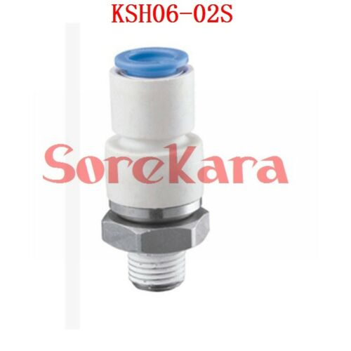 """Pushfit 4//6//8//10//12mm M5 1//8/""""-1//2/"""" BSP Male Connectors Joint Rotary Fittings"""