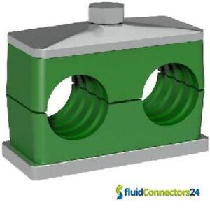 Rohrschellen-Doppelschellen-Kunststoffschelle-fuer-Hydraulikrohre