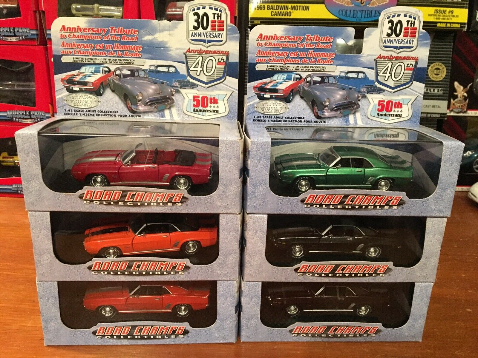 Road Champs 1 43 30 Th Anniversary 1969 Chevy Camar Z 28 Lot Of 6.