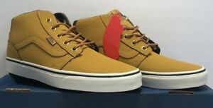 8acb4e599f Vans Mens Side 7.5 Chapman Mid Leather Brown Casual Shoes