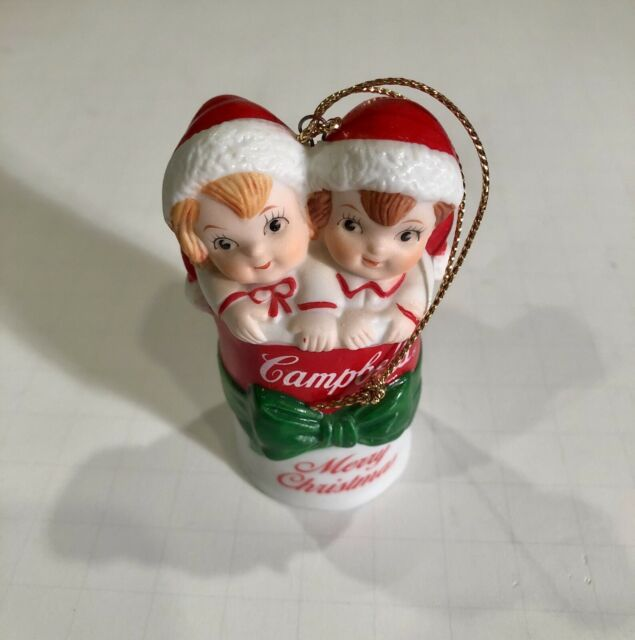 VINTAGE 1995 CAMPBELL/'S SOUP KIDS ON THE MOON CHRISTMAS ORNAMENT WITH BOX