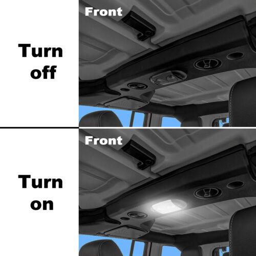 3Pcs LED Light Bulbs Interior White Lights Fit for 2007-2018 Jeep Wrangler JK