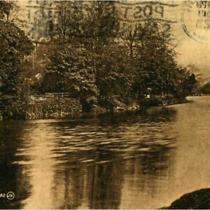 Antique-sepia-printed-postcard-On-The-Lee-at-Cork-Ireland-river-landscape