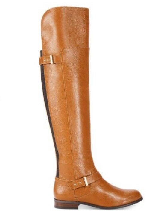 Bar III Daphne Over-The-Knee Riding Boots Size 7 M color ( Banana Bread)