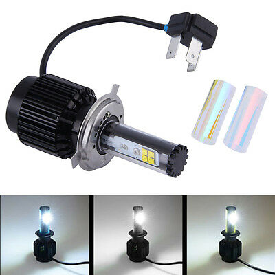 Crystal Clear Headlight H4 40W LED Light Bulb Headlamp For Harley Motorcycle SY