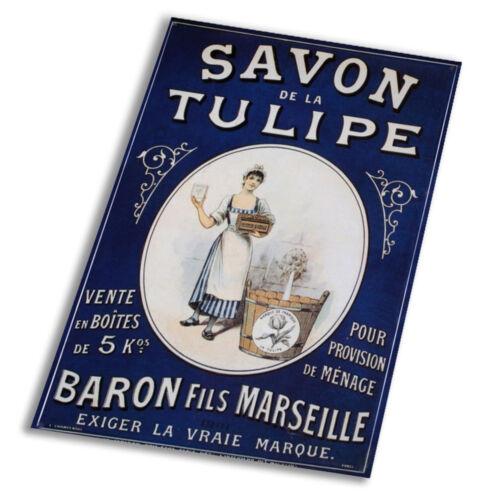 Savon De La Tulipe A1 A2 A3 A4 A5 Vintage Art Print Poster