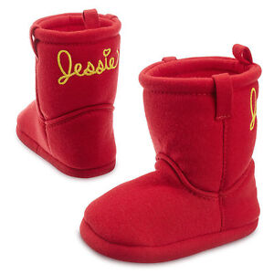 1806e031f40f NEW DISNEY STORE JESSIE RED TOY STORE SLIPPER UGG BOOTS SIZE 1 YEAR ...