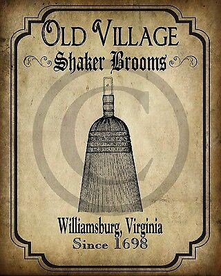 Primitive Colonial Williamsburg Shaker Baskets   Print 8x10