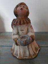 alter Bozener Engel Kerzenhalter 17,5 cm Keramik Weihnachtsengel